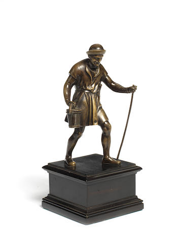 Prieur bronze of a man