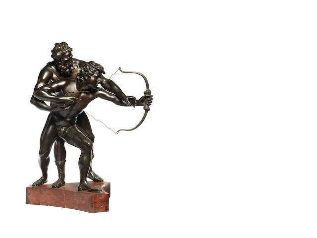 19th century bronze group