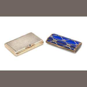 Two silver and gilt cigarette cases