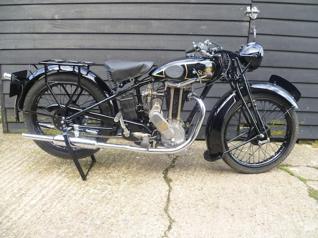 1932 Sunbeam 344cc Model 10 Frame no. R1150 Engine no. SS1238