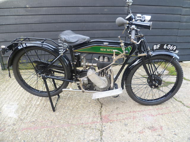 1922 New Imperial 347cc Sports Frame no. D1065 Engine no. IC/E/9396/P