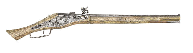 A Very Rare German 40-Bore Wheel-Lock Long Belt Pistol Or Carbine