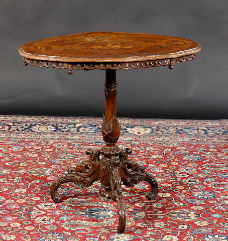 A 19th Century Italian inlaid occasional table