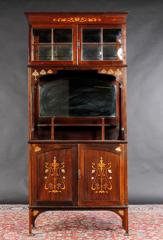 An Art Nouveau display cabinet