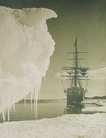 "PONTING (HERBERT GEORGE) ""The 'Terra Nova' at the Ice Foot"", [1911]"