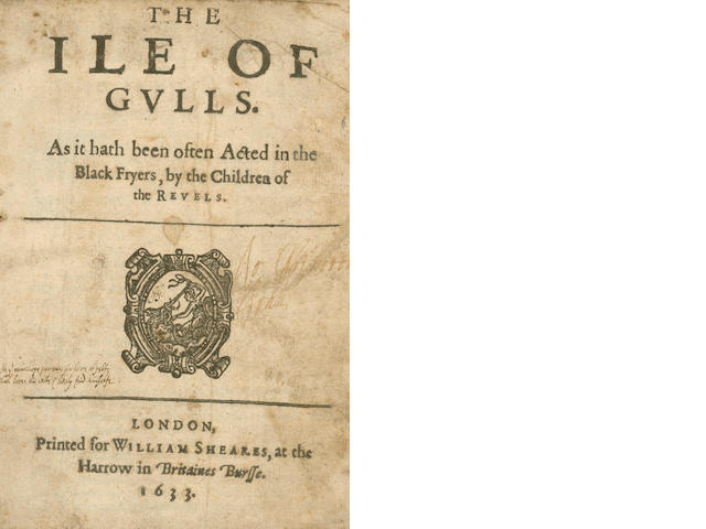 DAY (JOHN)] The Ile of Gulls. As It Hath Been Often Acted in the Black Fryers, by the Children of the Revels, 1633