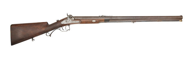 A Fine Bohemian 18-Bore Percussion Sporting Rifle