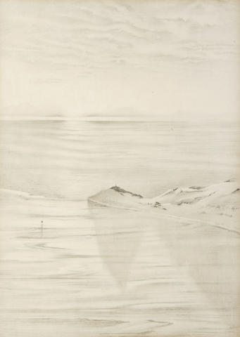 WILSON (EDWARD ADRIAN) An Antarctic vista with two figures in the distance, [1911?]