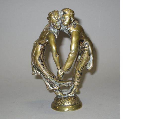 A 'Les Danseurs Tete a Tete' mascot by Ruffony, French, 1920s,