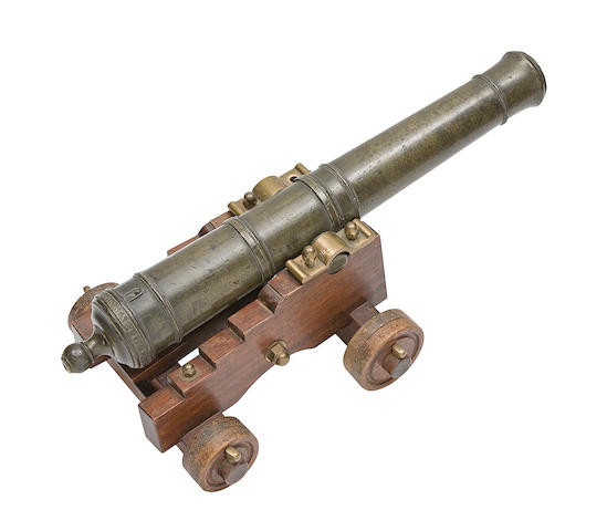 A Very Rare Small Indian Bronze Cannon