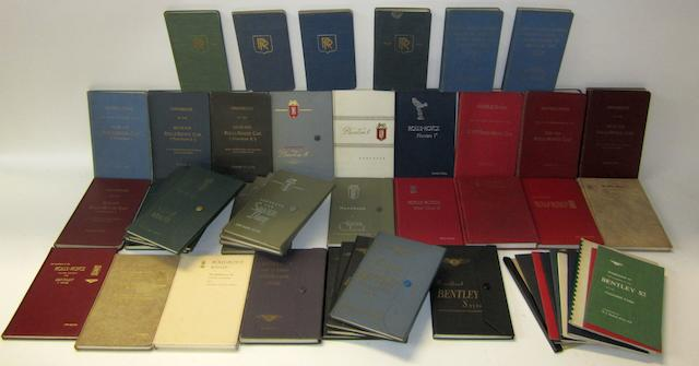 A comprehensive collection of assorted Rolls-Royce and Bentley instruction books,