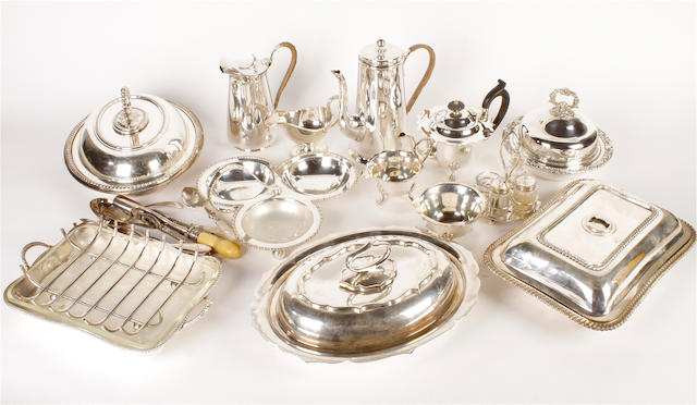 A collection of electroplated items  (qty)