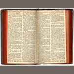 BIBLE, in Irish An Biobla Naomhtha, iona bhfuil Leabhair na Seintiomna,  2 parts in one vol.