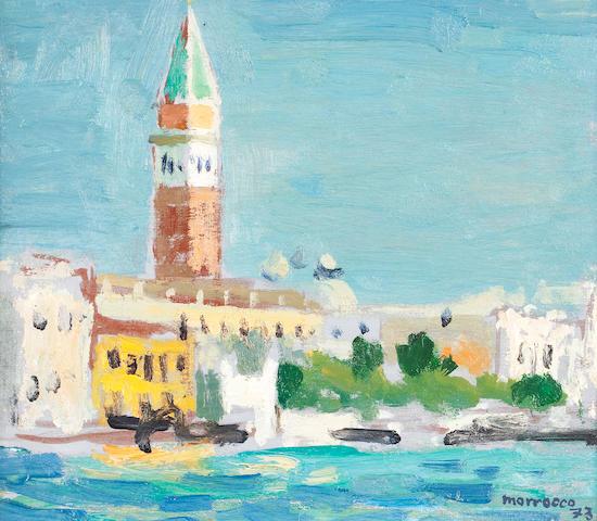 Alberto Morrocco, OBE RSA RSW RP RGI LLD D Univ (British, 1917-1998) Campanile, Piazza St. Marco, Venice 21.6 x 24.2 cm. (8 1/2 x 9 1/2 in.)