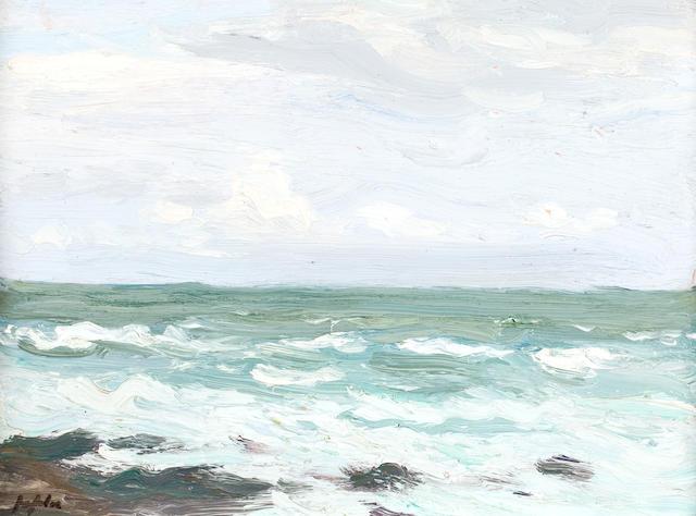 Samuel John Peploe, RSA (British, 1871-1935) Seascape, Iona 20 x 26.5 cm. (7 7/8 x 10 7/16 in.)