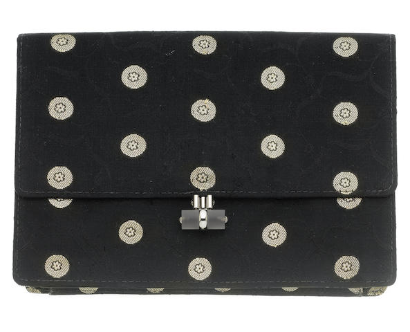 A rock crystal and silk clutch bag, French LV***