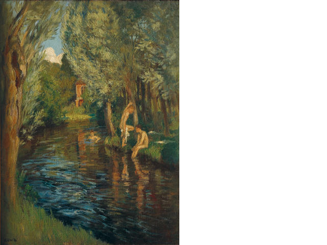 Rupert Bunny (1864-1947) Boys Bathing in the Loire c.1901
