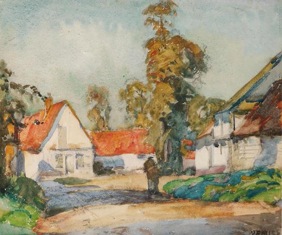 David Davies (1864-1939) Farmyard