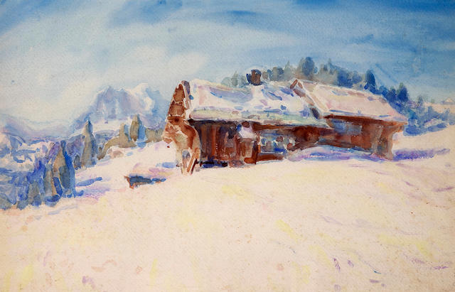 John Peter Russell (1859-1930) Swiss Scene 1913