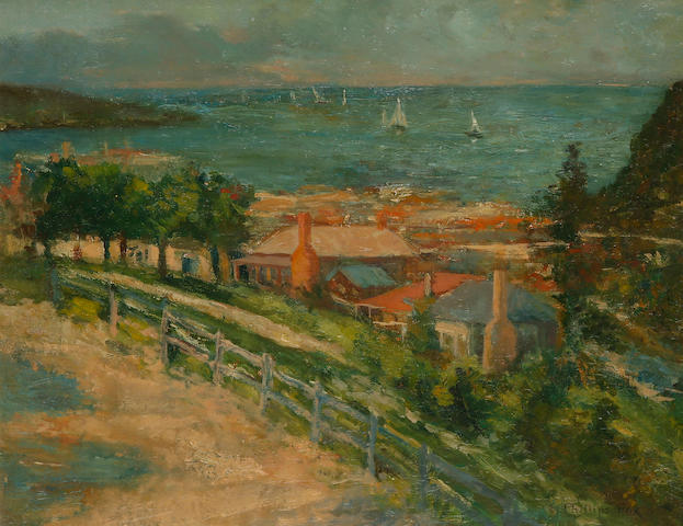 Emanuel Phillips Fox (1865-1915) Coastal Scene