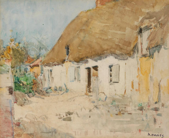 David Davies (1864-1939) The Thatched Cottage