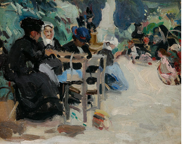 Ethel Carrick Fox (1872-1952) Ladies Seated in the Luxembourg Gardens