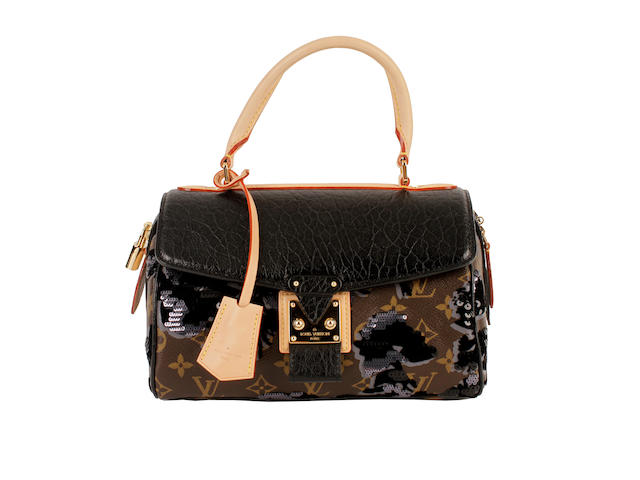 a Louis Vuitton embellished and sequinned monogrammed bowling bag