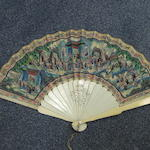 A collection of twelve 19th century fans & twelve beaded purses