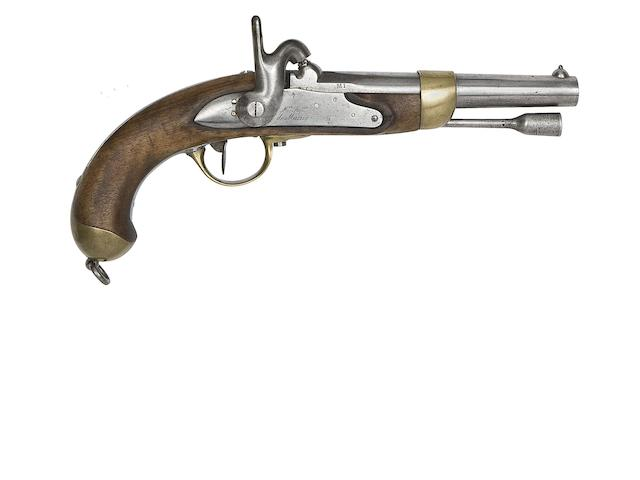A French 13-Bore 1822 Model Percussion Military Pistol