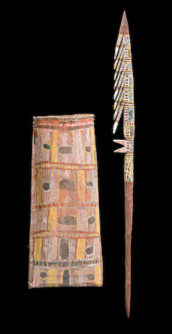A Ceremonial Spear and Basket (Tunga), Bathurst or Melville Islands