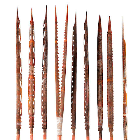 Nine Ceremonial Spears, Groote Eylandt