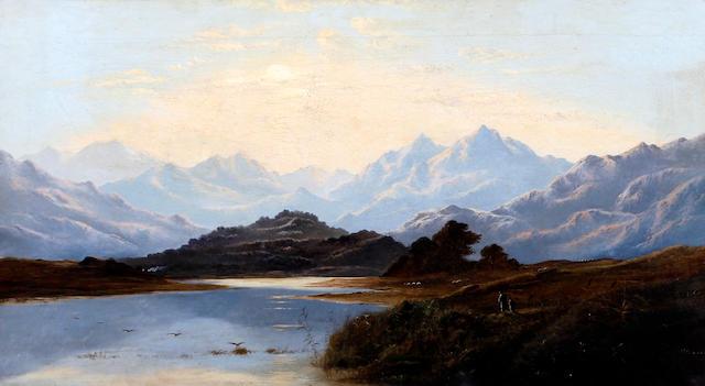 Charles Leslie (British, circa 1835-1890) 'Snowdonia'