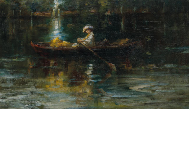 Charles  Conder (1868-1909) Woman in a Row Boat c.1909