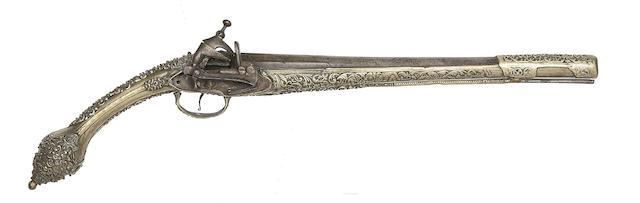 A Balkan 18-Bore Miquelet-Lock Pistol