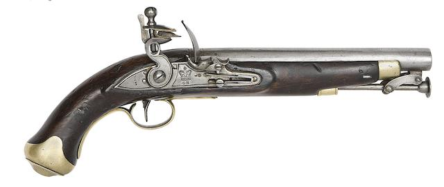 A 16-Bore New Land Pattern Flintlock Service Pistol Of The 17th Lancers