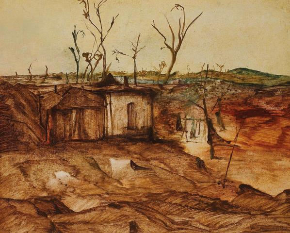 Sidney Nolan (Australian, 1917-1992) Deserted Camp 1952