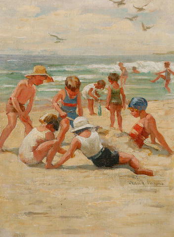 Frances Payne (1885-1975) On the Beach