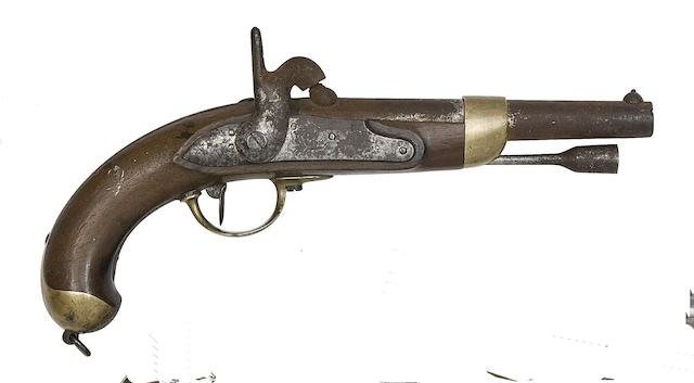 A French 14-Bore 1822 Model Percussion Military Pistol