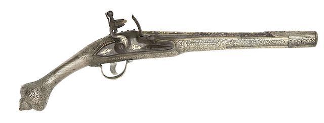 A Pair Of Balkan 20-Bore Flintlock Holster Pistols