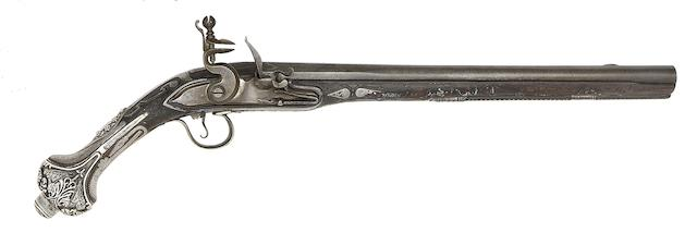 A Turkish 18-Bore Flintlock Holster Pistol