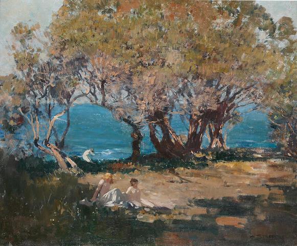 Arthur Streeton (1867-1943) Seaside Pastoral c.1921
