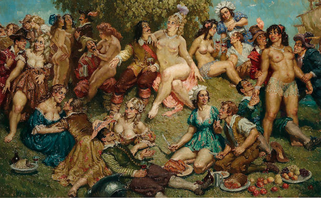 Norman Lindsay (1879-1969) The Pirates' Return c.1940