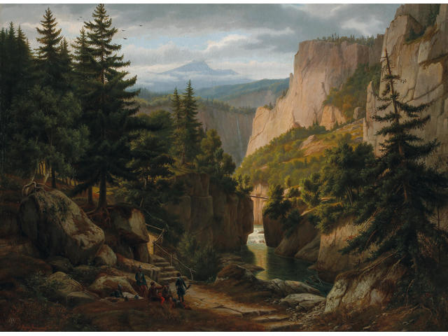 Eugene von Guerard (1811-1901) Mountainous Landscape early 1840's