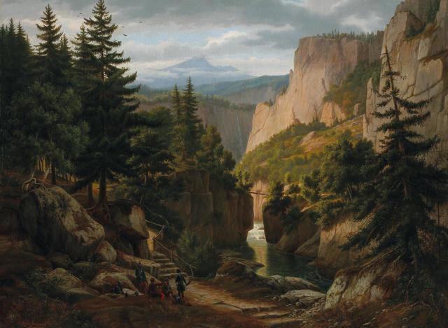 Eugene von Guerard (1811-1901) Mountainous Landscape early 1840's