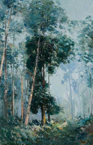 Arthur Streeton (1867-1943) A Sunlit Mountain 1907