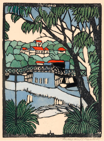 Margaret Preston (1875-1963) Mosman Bridge c. 1927