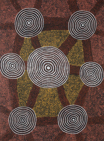 Anatjari Tjakamarra (circa 1938-1992) Wallaby Dreaming at Paranya