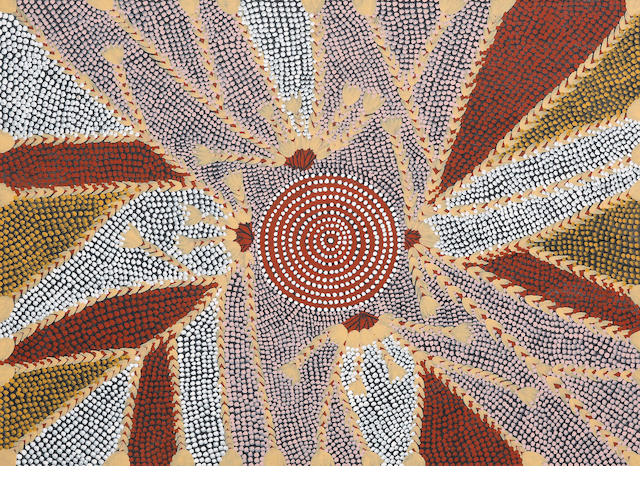 Billy Stockman Tjapaltjarri (born circa 1927) Untitled (Bush Tucker Dreaming)