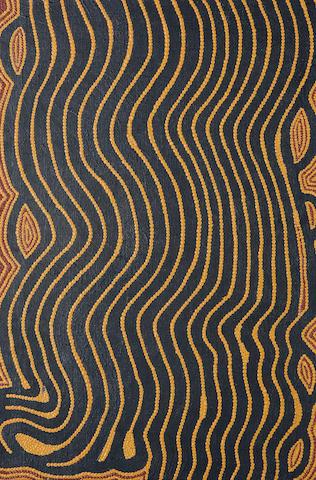 Anatjari Tjampitjinpa (circa 1927-1999) Untitled (Tjulnya Dreaming)