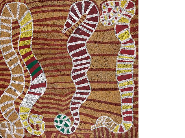 Timmy Payungka Tjapangati (circa 1933-2000) Untitled (Snake Dreaming)